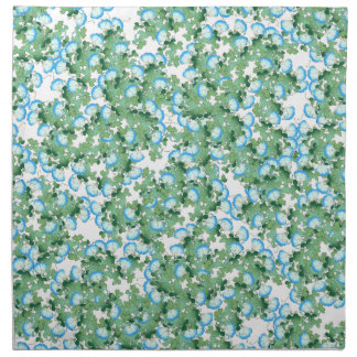 Japan Morning Glory Floral Flowers Cloth Napkins
