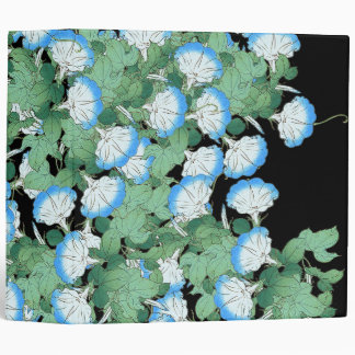 Japan Morning Glory Flowers Floral Garden 3 Ring Binder