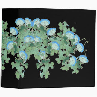 Japan Morning Glory Flowers Floral Garden Binder