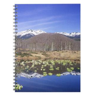 Japan, Nagano, Norikura, Mt. Norikura & Spiral Notebook