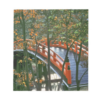Japan, Nara Pref., Nara. The Royal Bridge glows Notepad