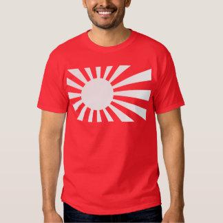 Japan Navy Flag - White Tee Shirt