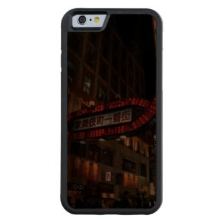 Japan Neon Signs Carved® Walnut iPhone 6 Bumper Case