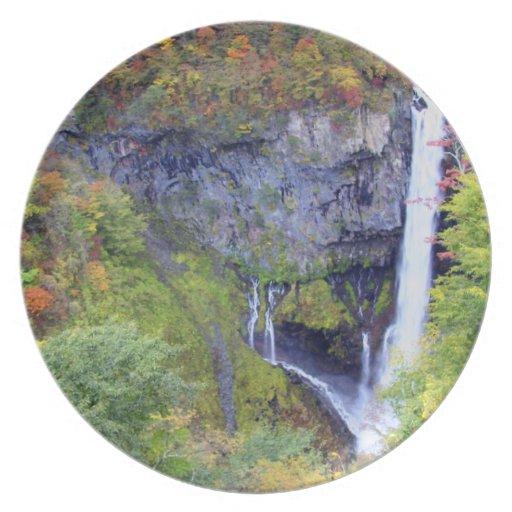 Japan, Nikko. Kegon waterfall of Nikko, a UNESCO Dinner Plates