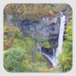 Japan, Nikko. Kegon waterfall of Nikko, a UNESCO Square Sticker