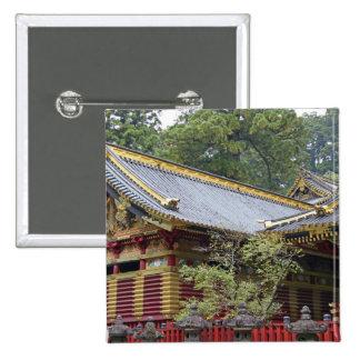 Japan, Nikko. Toshogu Shrine and mausoleum in 2 2 Inch Square Button