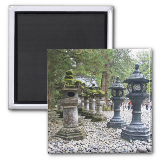Japan, Nikko. Toshogu Shrine and mausoleum in 2 Inch Square Magnet