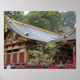 Japan, Nikko. Toshogu Shrine and mausoleum in 2 Poster