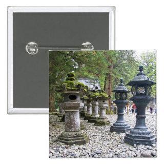 Japan, Nikko. Toshogu Shrine and mausoleum in 2 Inch Square Button