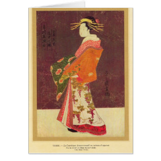 Japan, Oriental lady 18th century Card