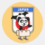 Japan Pommel Horse Panda Stickers