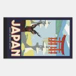 Japan Rectangular Sticker