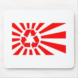 Japan recycling sun flag mousemat mouse pad