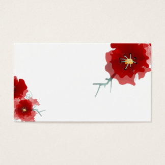 Japan red flower limited edition business card
