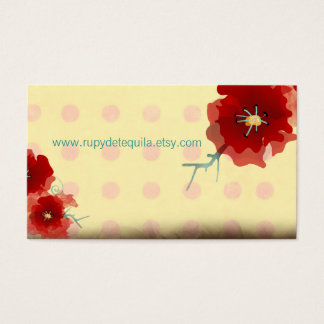 Japan red flower unique business card