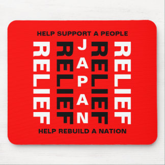 JAPAN RELIEF HELP SUPPORT A PEOPLE... MOUSEPADS