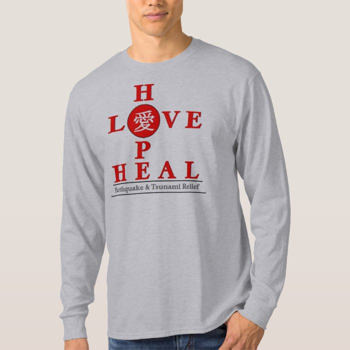 Japan Relief - Love Hope Heal T-Shirt