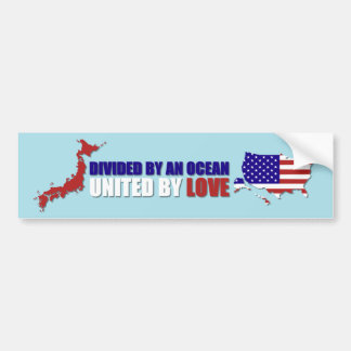 JAPAN RELIEF - UNITED BY LOVE CAR BUMPER STICKER