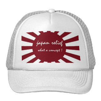 japan relief what a concept trucker hat