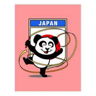 Japan Rhythmic Gymnastics Panda Postcard