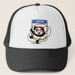Trucker Hat with Japanese Rhythmic Gymnastics Panda design