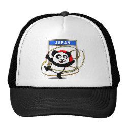 Trucker Hat with Japanese Rhythmic Gymnastics Panda design