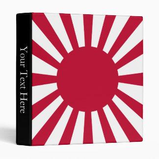 Japan Rising Sun Flag Binder