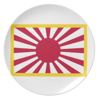 Japan Rising Sun Flag Melamine Plate