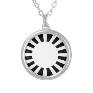 Japan Rising Sun Flag Silver Plated Necklace