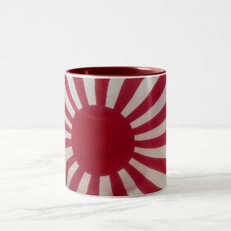 Japan Rising Sun -Mug- Style2 Two-Tone Coffee Mug