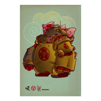 japan robot poster