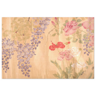 """Japan Rose Wisteria Flowers Floral Tissue Paper 20"""" X 30"""" Tissue Paper"""
