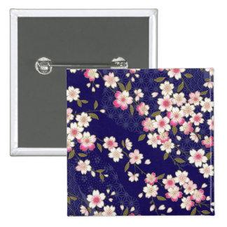 Japan, Sakura, Kimono, Origami, Chiyogami, Flower, Button