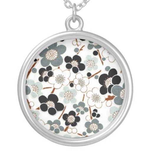 Japan, Sakura, Kimono, Origami, Chiyogami, Flower, Necklace