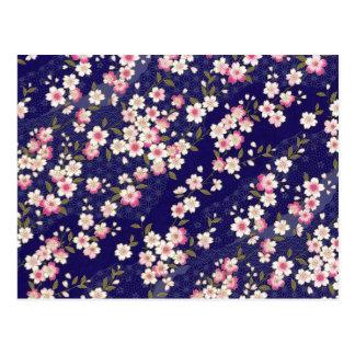 Japan, Sakura, Kimono, Origami, Chiyogami, Flower, Postcard