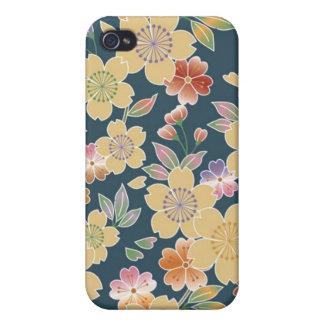 Japan Sakura Kimono Origami Japanese Flower Cover For iPhone 4