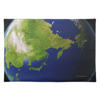 Japan Seen from Space Cloth Placemat