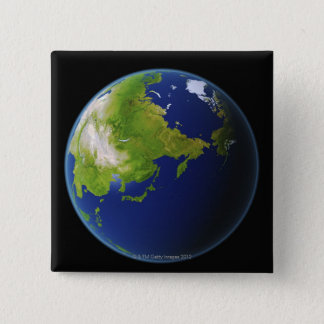 Japan Seen from Space Pinback Button