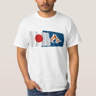 Japan & Shizuoka Waving Flags T-Shirt