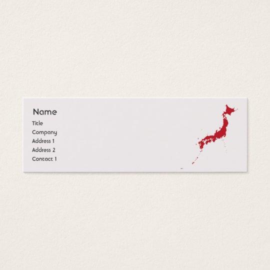 Japan - Skinny Mini Business Card
