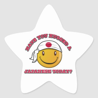 Japan smiley flag designs star stickers