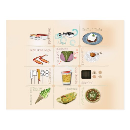 Japan Snack Food Postcard
