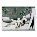 Japan Snow Greeting Card