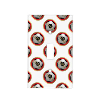 Japan Soccer Ball with Golden Frame Light Switch Plates