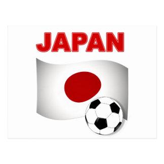 japan soccer football  postcard