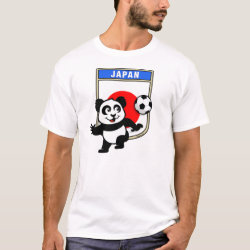 Men's Basic T-Shirt with Japan Football Panda design