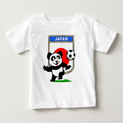 Baby Fine Jersey T-Shirt with Japan Football Panda design