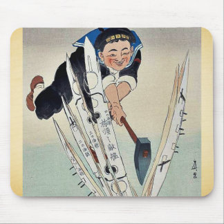 Japan splits torpedo fleet by Kobayashi,Kiyochika Mouse Pad