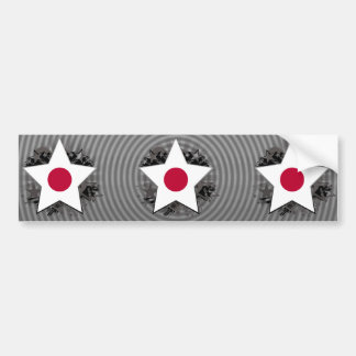 Japan Star Bumper Stickers