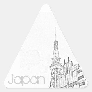 Japan Sticker - Nagoya TV Tower Triangle